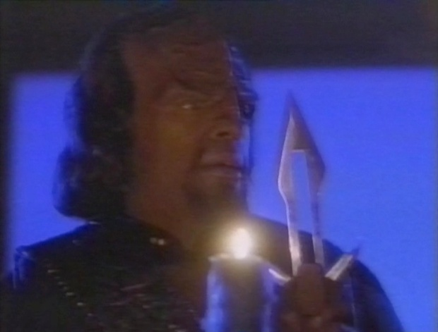 Worf coping with grief