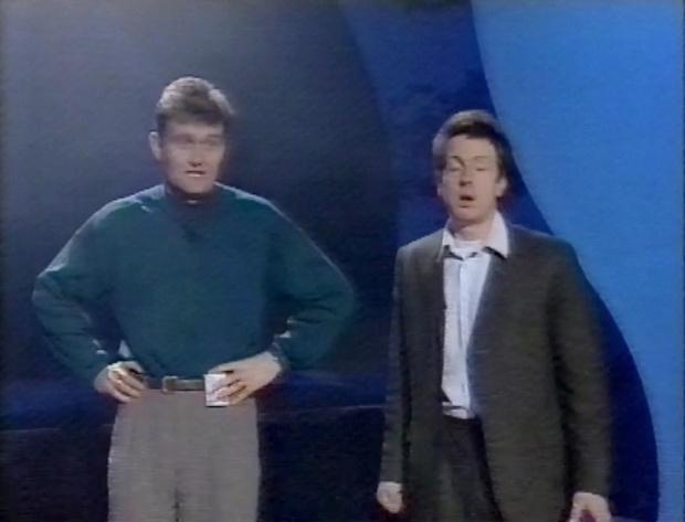 Steve Punt and Hugh Dennis