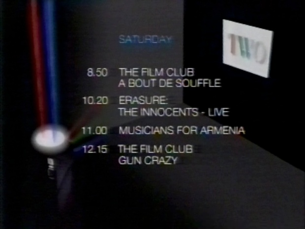 BBC Two Schedule Sat 17 Dec 1988