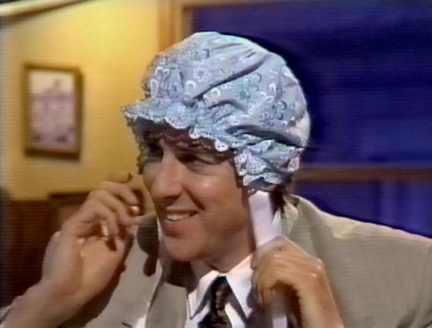 Jonathan in a bonnet