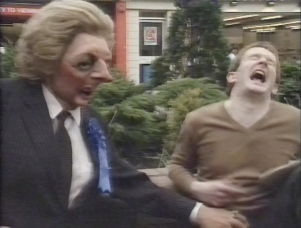 Mrs Thatcher and Steve Nallon