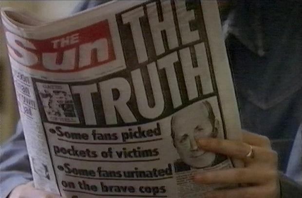 Sun Hillbrorough headline