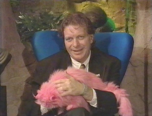 Tony Wilson and a Pink Cat