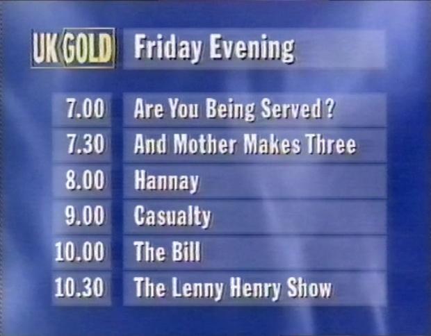 Friday Evening on UK Gold