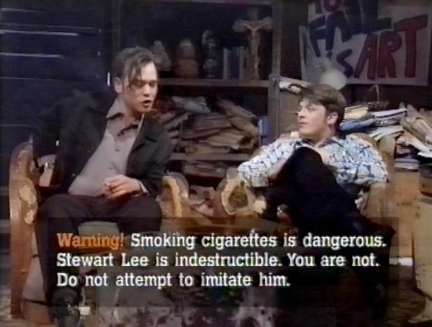 Fist of Fun Cigarette warning