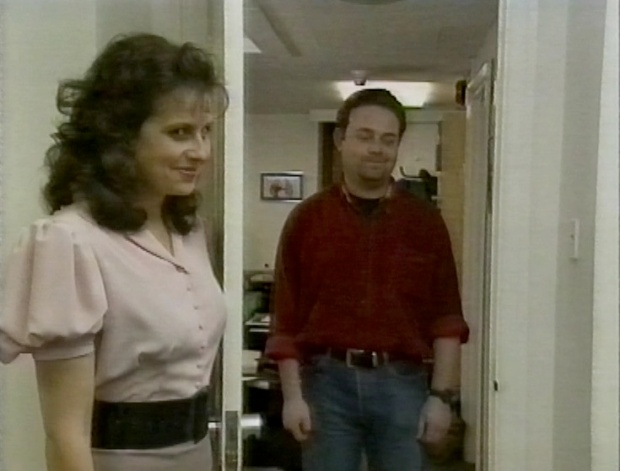 Rebecca Front and John Thompson