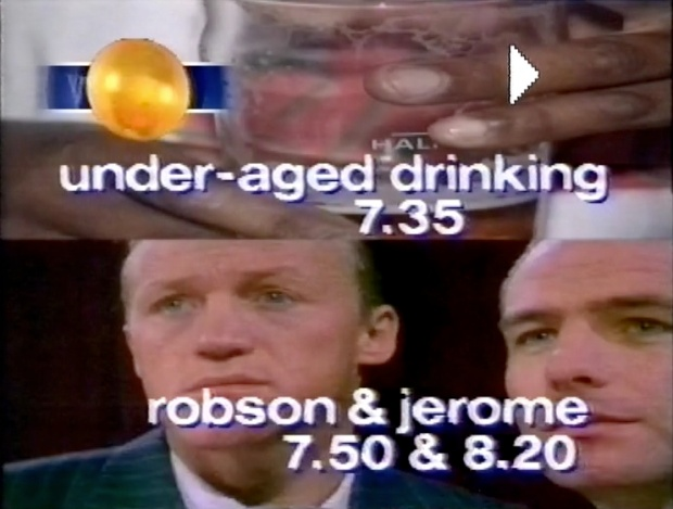 under-aged drinking Robson and Jerome