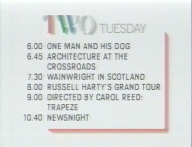 BBC2 programmes for 5th April 1988