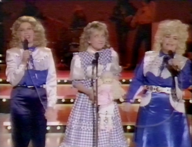 Helen Lederer and the Parton Sisters