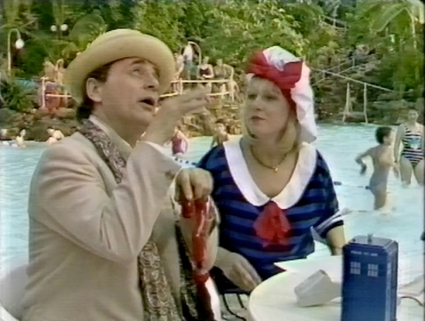 Sarah Greene and Sylvester McCoy