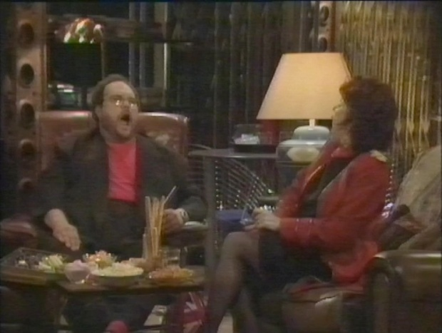 Mike McShane and Ruby Wax