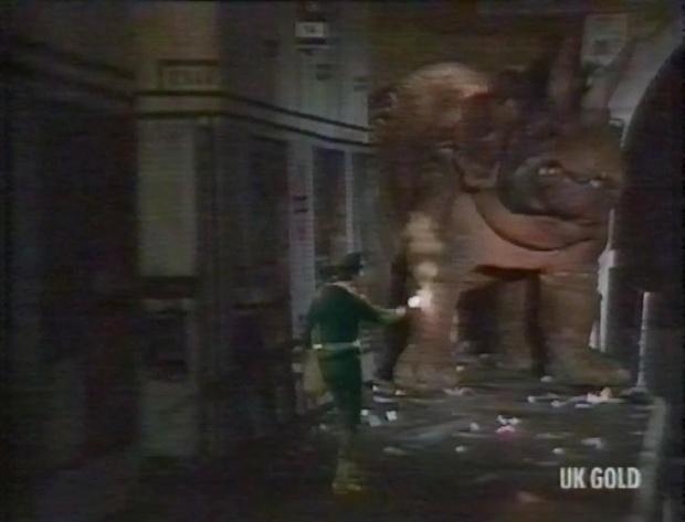 The Brigadier and a dinosaur