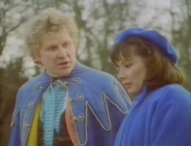 The Doctor and Peri in Blue