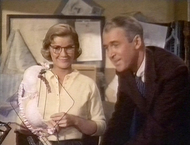 Barbara Bel Geddes and James Stewart