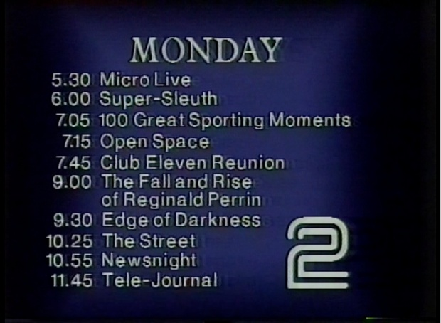 BBC2 Monday 9th December 1985