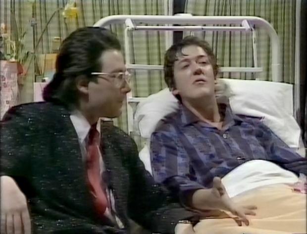 Ben Elton and Stephen Fry