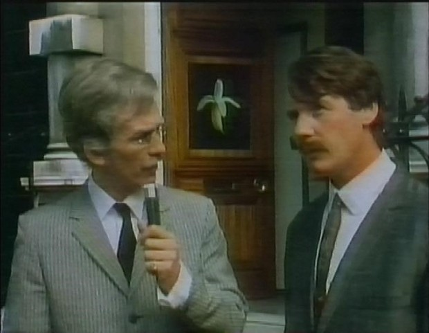 George Harrison and Michael Palin