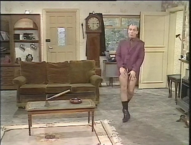 Richard Dangerous with no trousers