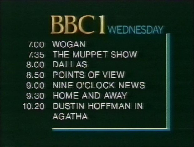 Wednesday Night Programmes 7th Jan 1987