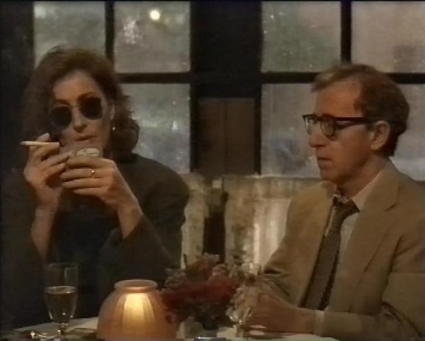 Anjelica Huston and Woody Allen