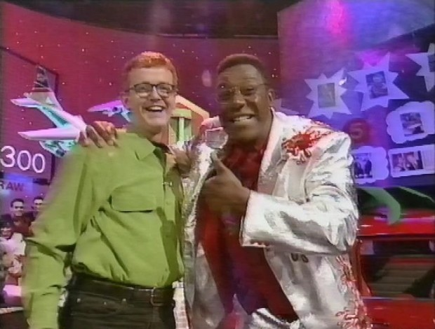 Chris Evans and Lenny Henry