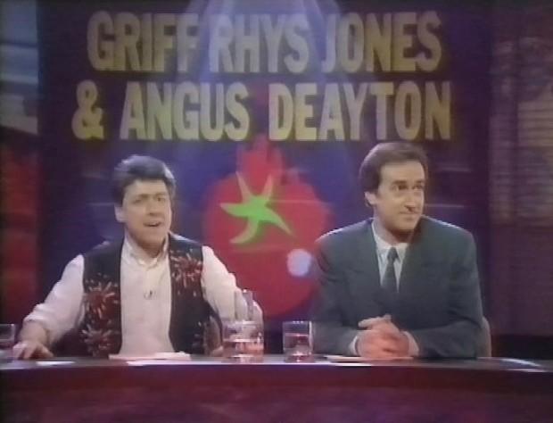 Griff Rhys Jones and Angus Deayton