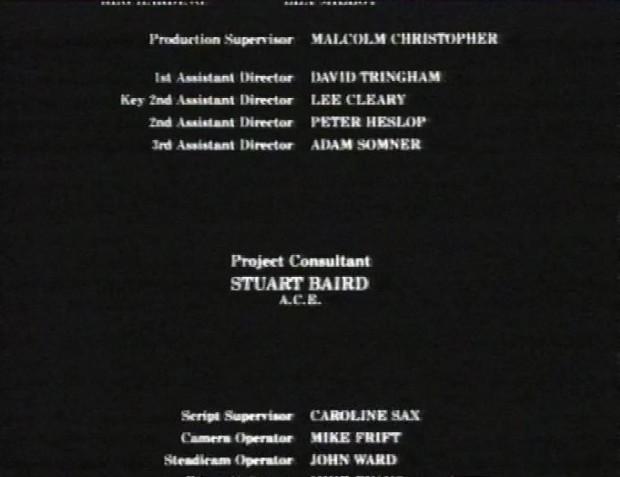 Project Consultant Stuart Baird
