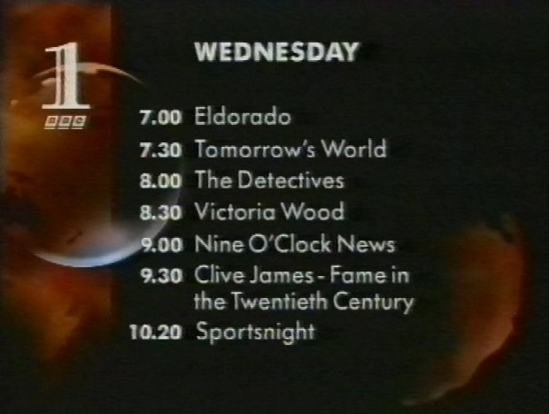 BBC1 Wednesday 27th January 1993