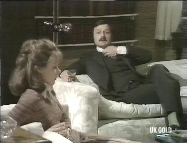 Peter Bowles and Carolyn Seymour