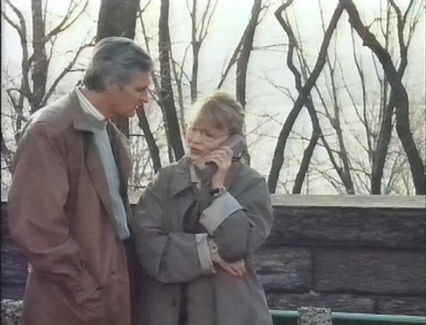 Alan Alda and Mia Farrow