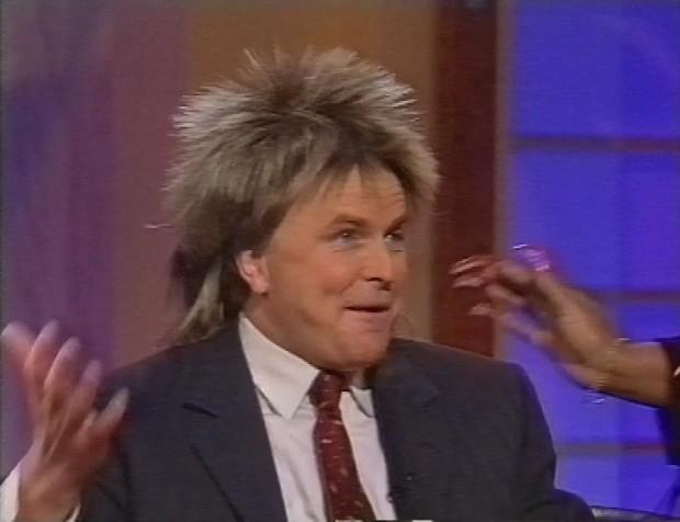 Clive Anderson in a wig