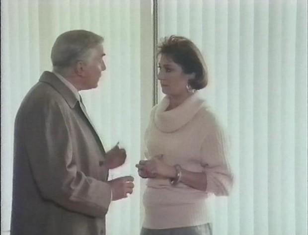 Martin Landau and Angelica Huston