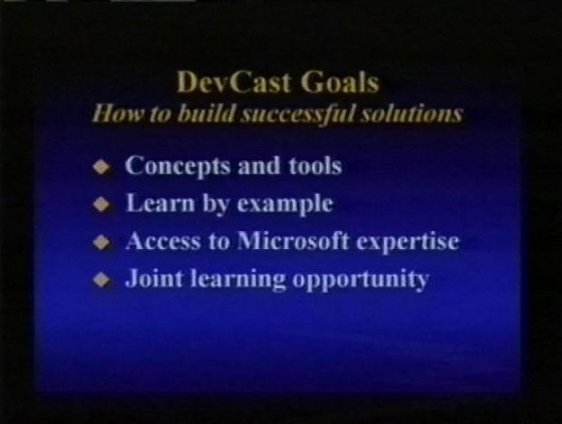 Devcast Goals