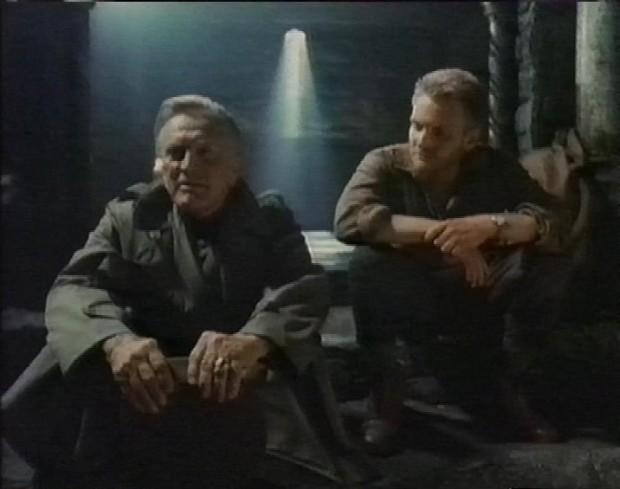 Kirk Douglas and Eric Douglas