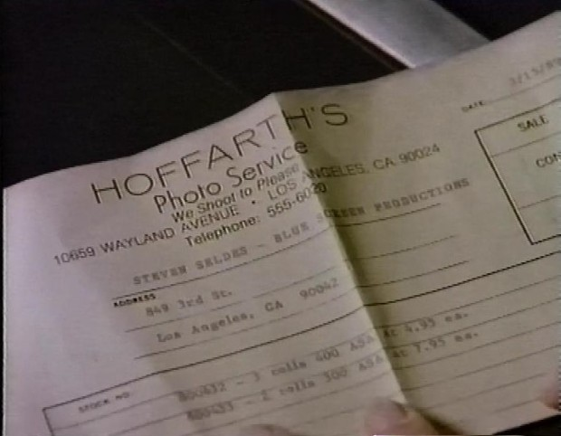 Film Receipt