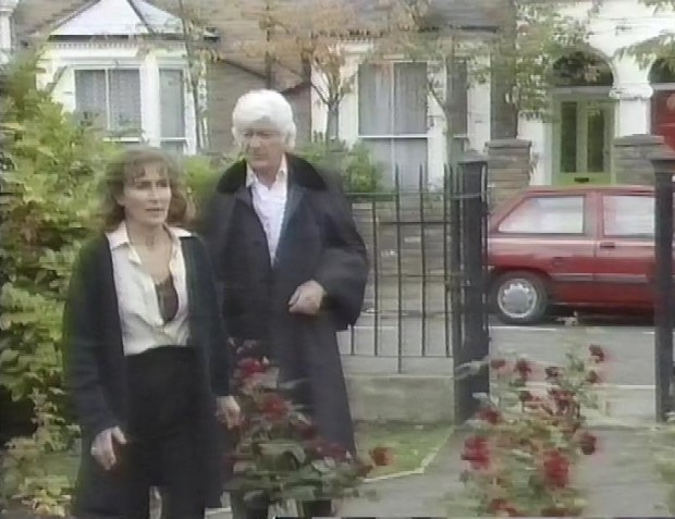 Caroline John and Jon Pertwee