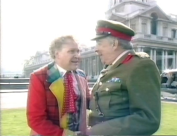 Colin Baker and Nicholas Courtney