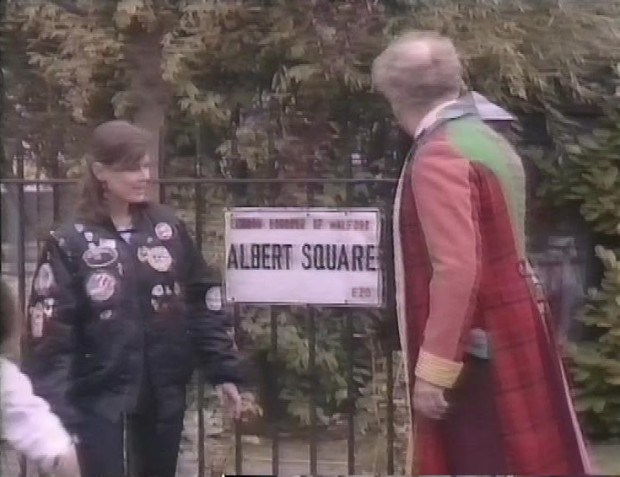 Colin Baker and Sophie Aldred