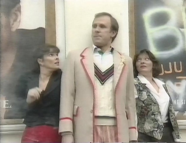 Nicola Bryant Peter Davison and Sarah Sutton