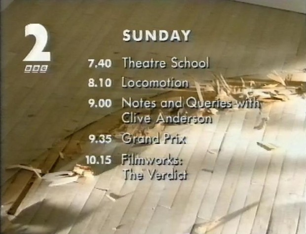 Programmes on Sunday