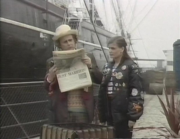 Sylvester McCoy and Sophie Aldred