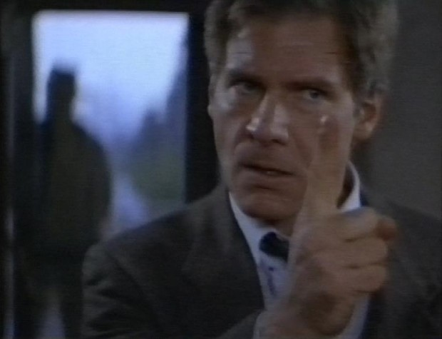 Harrison Ford sternly pointing