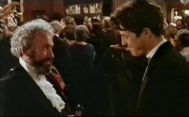 Simon Callow and Hugh Grant