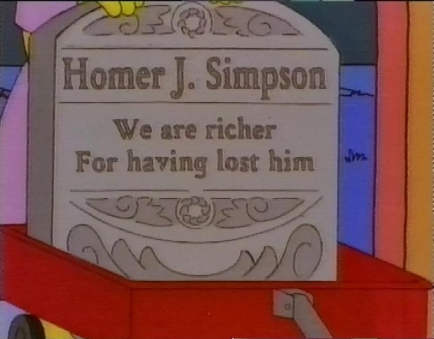 Homer's Tombstone