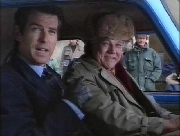 Pierce Brosnan and Joe Don Baker