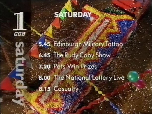 Programmes for Saturday 26th August BBC1
