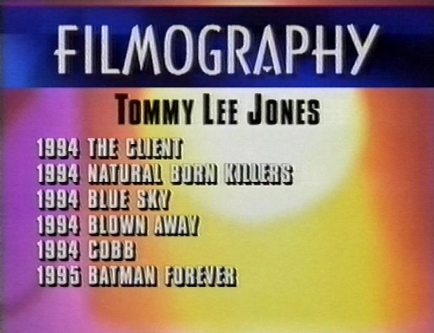 Tommy Lee Jones Filmography